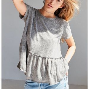 Tops - Truly madly deeply grey peplum tee